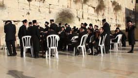 The Wailing Place of the Jews. Wailing Wall. Western Wall in Jerusalem, Israel stock video footage