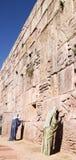 The Wailing Wall. Statues praying at a representation of the Jerusalem Wailing Wall Stock Photos