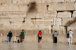 At the Wailing Wall Stock Image