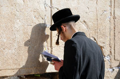 At the Wailing Wall Royalty Free Stock Photography
