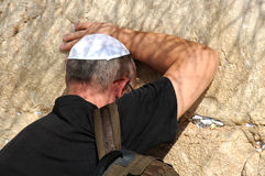 At the Wailing Wall Royalty Free Stock Photo