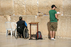 At the Wailing Wall Stock Photos