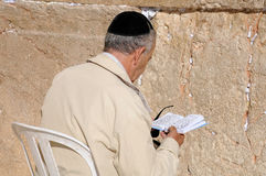 At the Wailing Wall Stock Images
