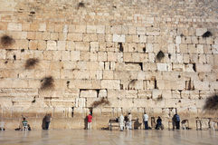 At the Wailing Wall Royalty Free Stock Image