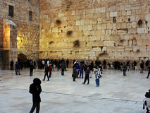 Wailing wall. The Wailing wall or Western wall is located in the Old City of Jerusalem. It is the most sacred place for Jews that come to pray here from all over Royalty Free Stock Image