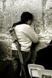 Wailing Wall. Female settler praying in Jerusalem Stock Photos
