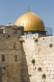 Wailing Wall and Dome of the Rock Stock Images