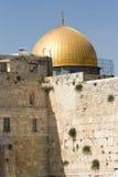 Wailing Wall and Dome of the Rock. (Masjid Qubbat As-Sakhrah). Old City, Jerusalem, Israel Stock Images