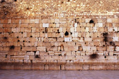 Wailing Wall Empty in Jerusalem. Wailing wall is empty one moment before nantional memorial day starts. The only moment in the year that the wall remains empty Royalty Free Stock Photos
