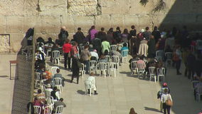The Wailing Wall stock video