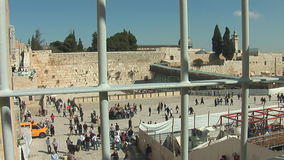 Wailing Wall stock footage
