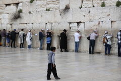 The wailing wall Israel Stock Image