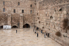 Wailing wall in jerusalem. Holy jewish place - the temple western wall Royalty Free Stock Photography