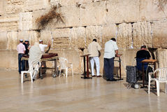 At the Wailing Wall in Jerusalem Royalty Free Stock Images
