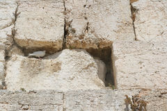 The Wailing Wall, Jerusalem Stock Photo