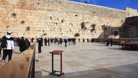 The wailing wall in Jerusalem stock video footage