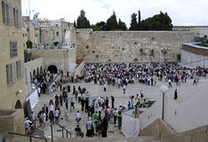 The wailing wall in Jerusalem Royalty Free Stock Photography