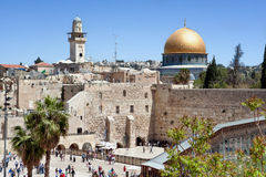 The wailing wall of Jerusalem Royalty Free Stock Photo