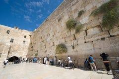 Wailing wall in Jerusalem Stock Photography