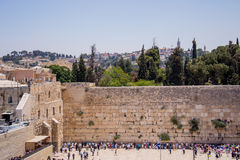 Wailing Wall in Jerusalem Stock Image