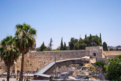 Wailing Wall in Jerusalem Stock Photography