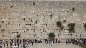 Wailing Wall in Jerusalem. old town stock video