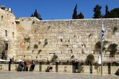 Wailing Wall in Jerusalem Stock Image