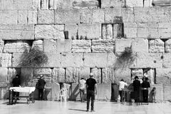 Wailing Wall in Jerusalem Stock Images