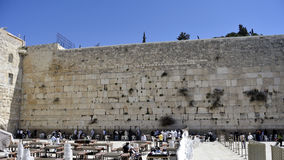 Wailing Wall - Kotel panorama in Jerusalem. Royalty Free Stock Photos