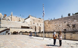 Wailing Wall in the Old City of Jerusalem. Royalty Free Stock Photography