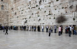 The wailing wall at the old city of Jerusalem Israel Royalty Free Stock Photos