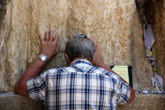 Wailing Wall in the Old City of Jerusalem Royalty Free Stock Photo