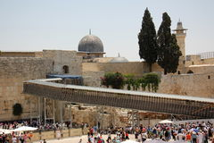 Wailing Wall in the Old City of Jerusalem Stock Photos