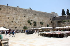 Wailing Wall in the Old City of Jerusalem Royalty Free Stock Photos