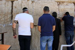 Wailing Wall in the Old City of Jerusalem Stock Photo