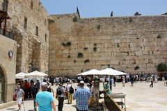 Wailing Wall in the Old City of Jerusalem Stock Image