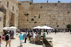 Wailing Wall in the Old City of Jerusalem Stock Images