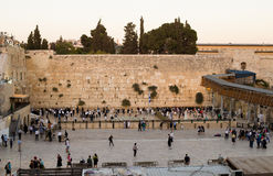 Wailing Wall - part of the ancient wall around the Temple Mount Royalty Free Stock Image