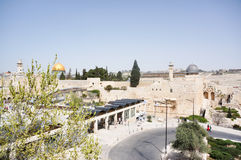 Wailing wall and temple mount Royalty Free Stock Photo