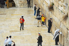 Wailing wall view from above Royalty Free Stock Photography