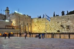 Wailing Wall, Western Wall or Kotel, Old City of Jerusalem, Isra Royalty Free Stock Image
