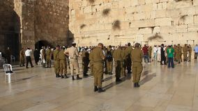 Wailing Wall. Western Wall. The Wailing Place of the Jews in Jerusalem, Israel stock video footage