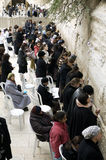 Wailing Wall - Women's side. The Wailing Wall, in Jerusalem, is considered by both Jews and Muslims as a significant and holy site, open 24 hours a day. In the Stock Photos