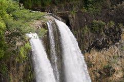 Wailua在考艾岛,夏威夷下跌 库存照片