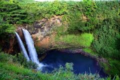 Wailua baja en hermoso y el borrachín Kauai Imagenes de archivo