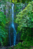 Wailua Falls on the island of Maui, Hawaii. A view of a towering Wailua Falls, located on the Road to Hana on the island of Maui, Hawaii. Wailua Falls at over 80 stock images
