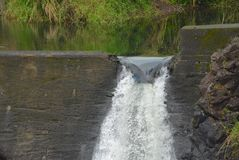 Wailuku flodfördämning Arkivbild
