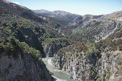Waimakariri峡谷 免版税库存图片