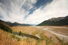 Waimakariri river valley Stock Photography