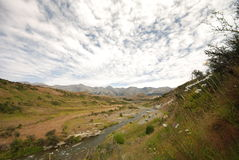 Waimakariri river valley Stock Photo